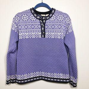L.L. Bean Nordic Pullover In Purple Size L